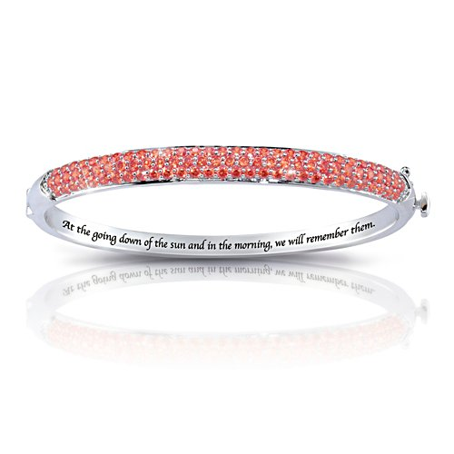 'Lest We Forget' Ladies Bangle With Jewels