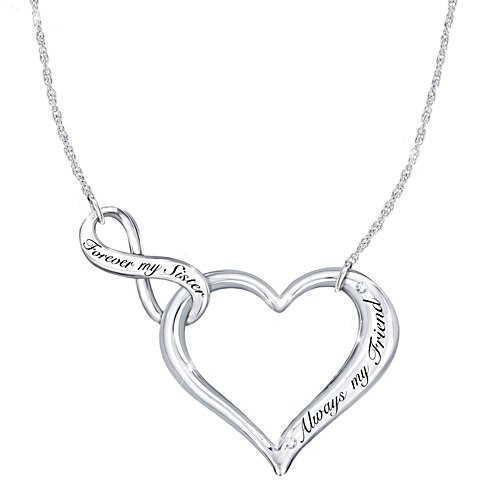"""My Sister, My Friend"" Heart Necklace"