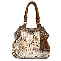 Diana Casey 'Mystic Wolf' Artistic Handbag