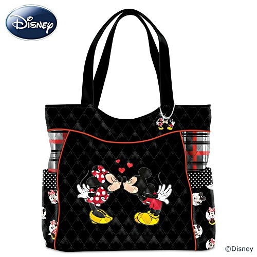 """Mickey And Minnie Love Story"" Quilted Tote Bag"