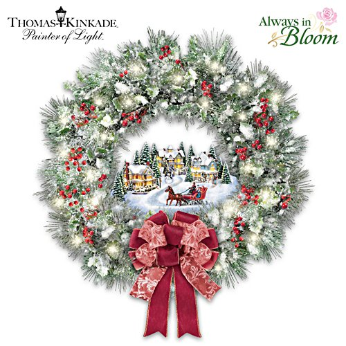 Thomas Kinkade 'A Holiday Homecoming' Wreath
