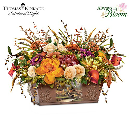 Thomas Kinkade 'Splendours Of Nature' Lit Centrepiece