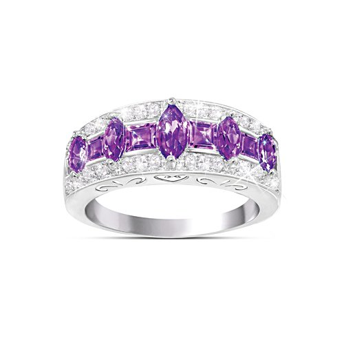 Purple Rhapsody Amethyst And Diamond Women's Ring