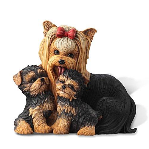 Yorkie-Küsse – Hundeskulptur