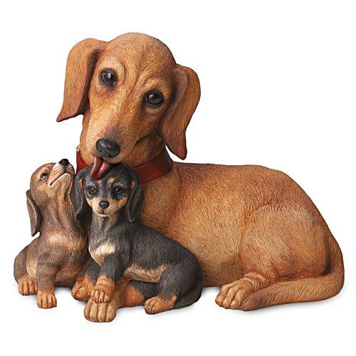 Teckelzoentjes – hondensculptuur