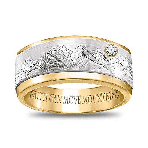 Mijn geloof verzet bergen – statement-ring