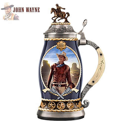 "John Wayne ""True Hero"" Porcelain Stein"