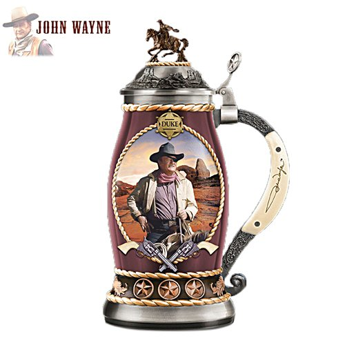 "John Wayne ""The Lawman"" Porcelain Stein"