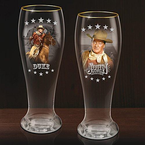 Prost John Wayne – Zwei Bierglas-2er-Sets