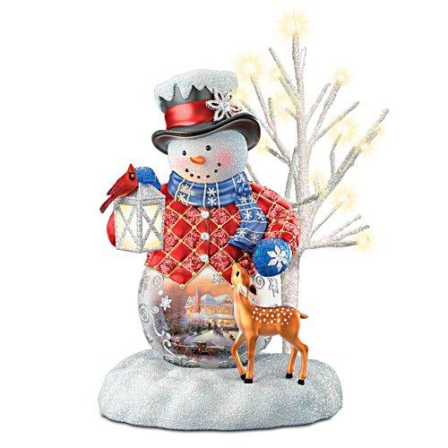 Dein Licht zur Weihnacht – Beleuchtete Schneemannskulptur