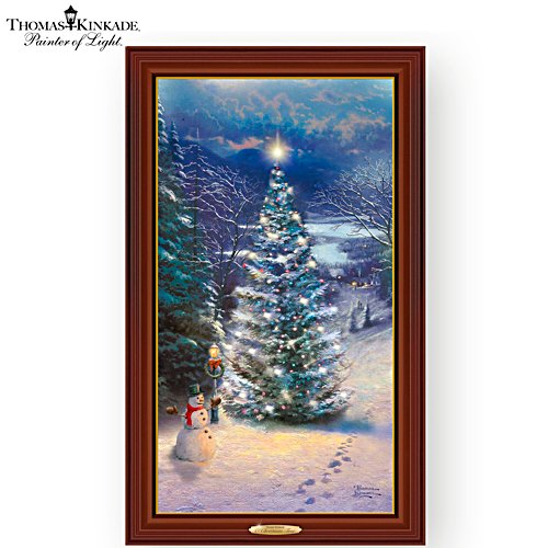"Thomas Kinkade ""O' Christmas Tree"" Illuminated Canvas Print"
