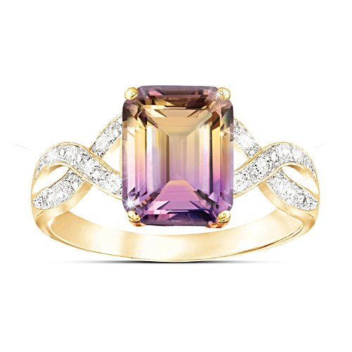 'Sunset Oasis' Ametrine And Diamond Ring