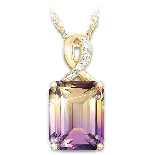 """Sunset Oasis"" Ametrine And Diamond Pendant Necklace"