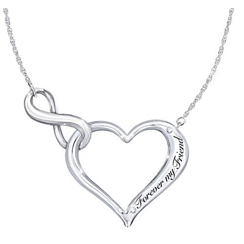 Forever My Friend Sterling Silver Necklace