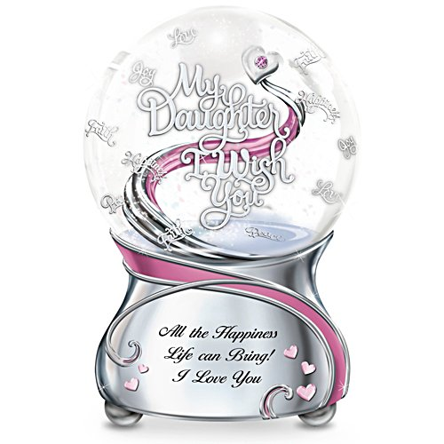 """My Daughter, I Wish You"" Musical Glitter Snowglobe"
