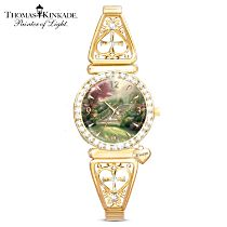 "Thomas Kinkade ""Stairway to Paradise"" Crystal Ladies Remembrance Watch"
