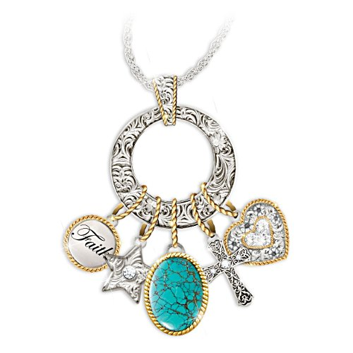 'Charmed Blessings' Turquoise Pendant