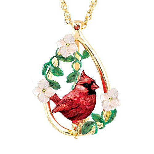 """Cardinal Beauty"" Garnet Gemstone Pendant Necklace"