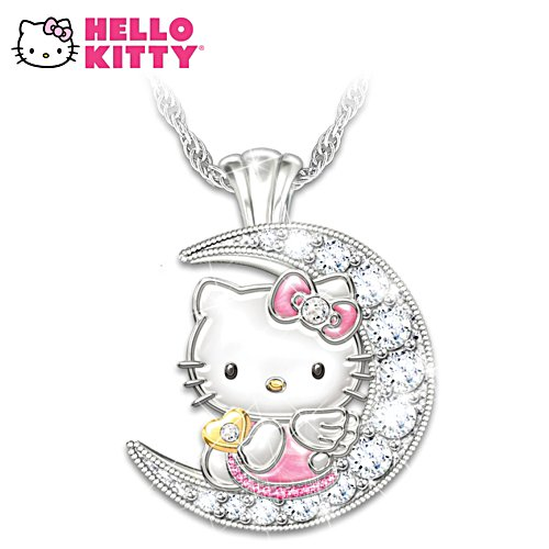Hello Kitty Moon Crystal Necklace
