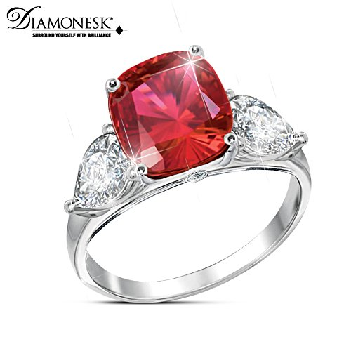"""Rare Sunrise"" Diamonesk Ruby Ring"