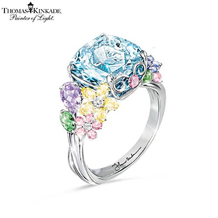 "Thomas Kinkade ""Colours Of Inspiration"" Women's Floral Ring"