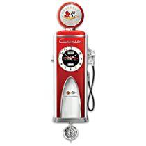 """""""Corvette High Octane"""" Gas Pump Sculpture Illuminated Clock"""