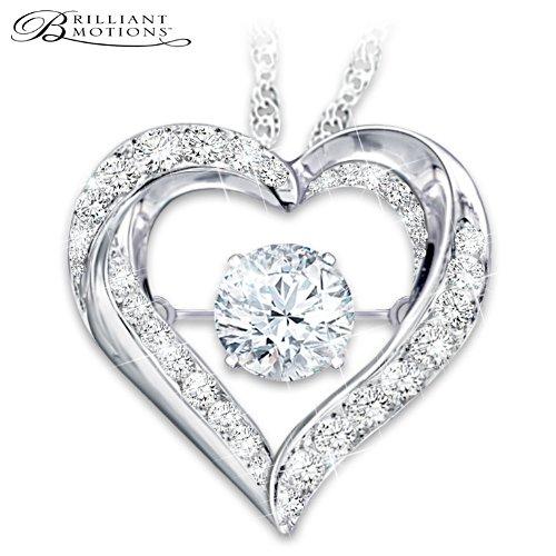 Grandaughter Always In My Heart Topaz Pendant Necklace