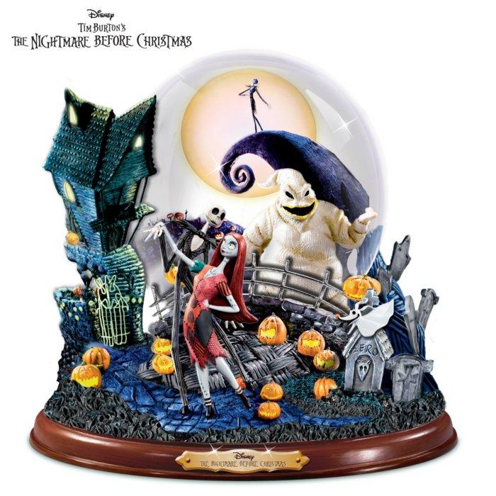 Disney Christmas Snow Globes.Tim Burton S Nightmare Before Christmas Snow Globe