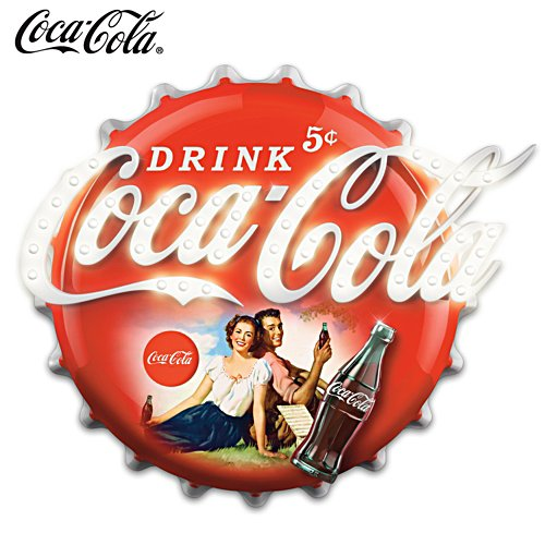 COCA-COLA Illuminated Marquee Sign Wall Decor