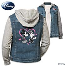 "Disney Mickey Mouse and Minnie Mouse ""Love"" Women's Hoodie"