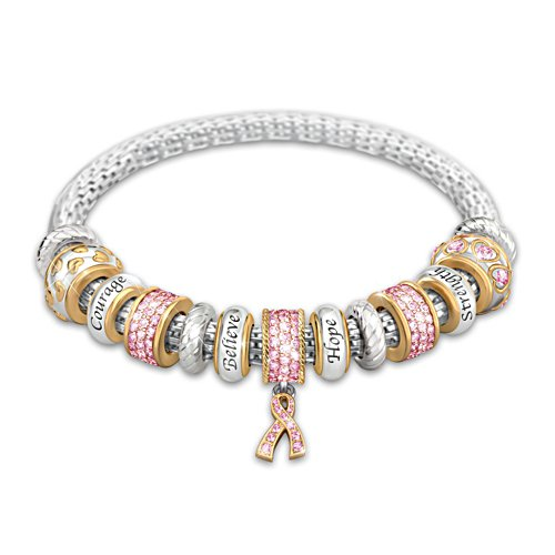 """Message Of Hope"" Breast Cancer Awareness Bracelet"
