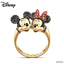 "Disney Mickey Mouse And Minnie Mouse ""Timeless Love"" Women's Ring"