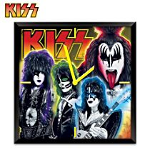 KISS Time To Rock Musical Wall Clock