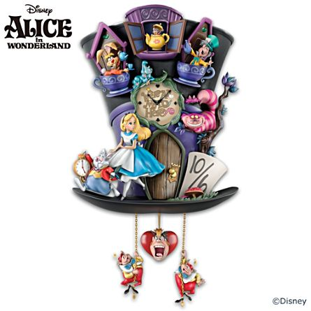 Alice In Wonderland 'Mad Hatter' Cuckoo Clock