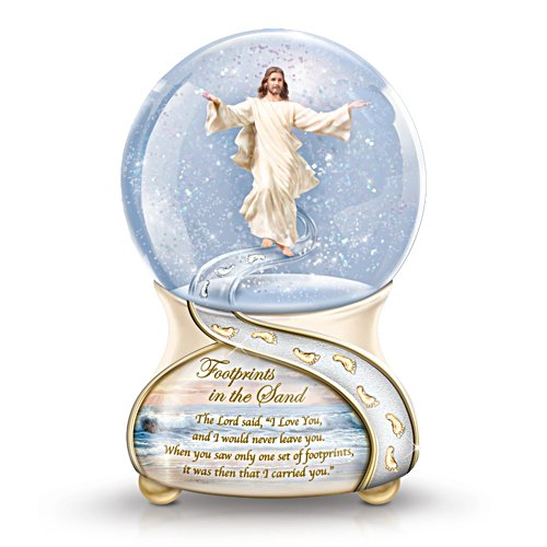 """Footprints In The Sand"" Musical Snow Globe"
