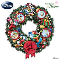 "Disney ""It's A Magical Disney Christmas"" Illuminated Wreath"