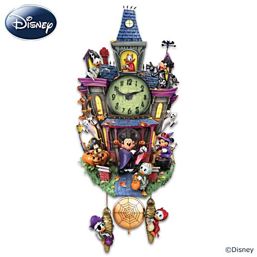 Disney Halloween Wall Clock With Lights And Music