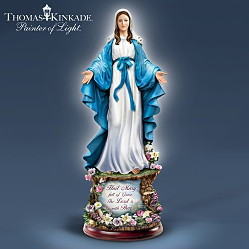 "Thomas Kinkade ""Hail Mary, Full Of Grace"" Sculpture"