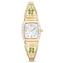 """Luck Of The Irish"" Crystal Ladies Stretch Watch"