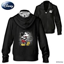 """Disney Mickey Mouse """"Hot Off The Press"""" Women's Hoodie"""