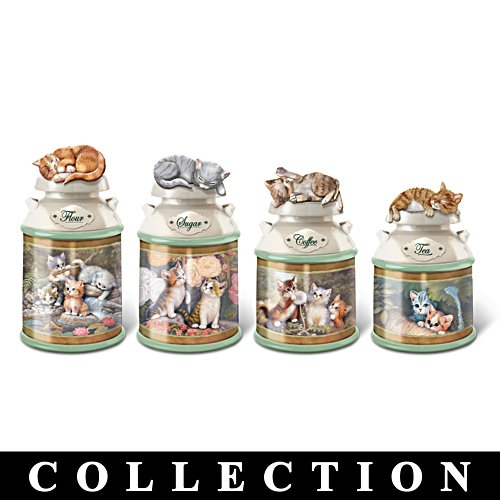 Jürgen Scholz Cat Canisters With Freshness Seal Collection