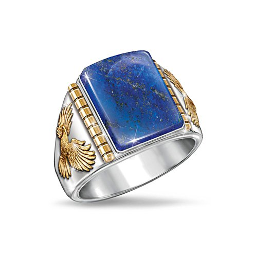 'Untamed Freedom' Blue Lapis Men's Ring