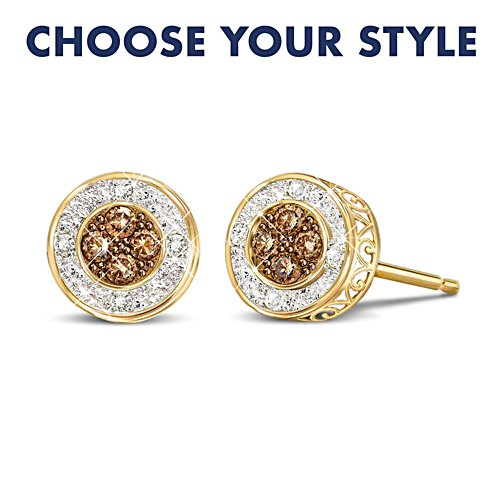 """All That Glamour"" Diamond Earrings: Choose From 4 Colours"