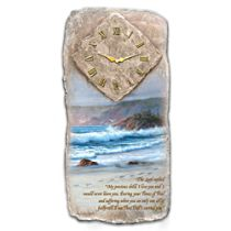 """""""Footprints In The Sand"""" Wall Clock"""