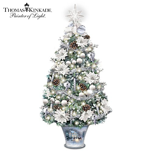 "Thomas Kinkade ""Winter Splendour"" Illuminated Tabletop Tree"