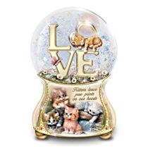 Jürgen Scholz 'Kittens Leave Pawprints On Our Hearts' Glitter Globe
