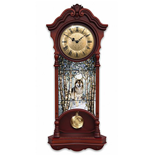 """Noble Spirits"" Stained Glass Wall Clock"