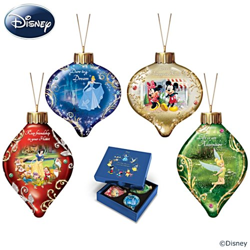 Disney Dazzling Dreams Illuminated Glass Ornaments
