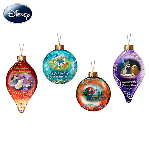 Disney Mystical Magic Illuminated Glass Ornaments