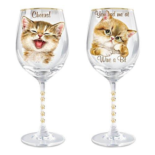 Kayomi Harai 'Sassy Cat' Wine Glass
